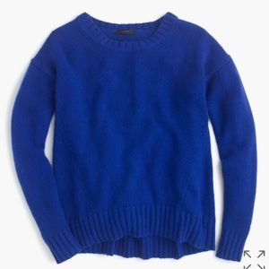 JCrew blue oversized supersoft tunic sweater